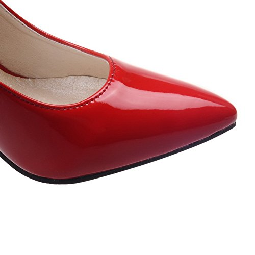 Adee Mesdames Sexy brevet Chaussures Pompes en cuir red