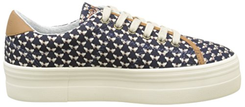 No Name Plato, Baskets Basses Femme Bleu (Beck Navy)