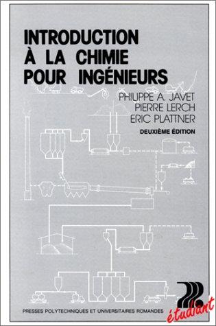 Introduction à la chimie pour ingénieurs
