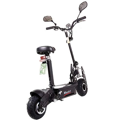 MACH1® Elektro E-Scooter mit EU Strassenzulassung 20Km/h Mofa Modell-2 EEC 36V/500W (Es besteht keine Helmpflicht für diesen Scooter) (1x 36V-16Ah Panasonic Akkus) - 3