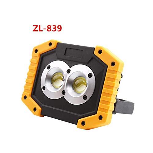 HUANGLP LED-Flutlicht im Freien tragbares Licht 30W Beleuchtung Flutlichter zur Hervorhebung Licht Multifunktions-, tragbares weißes Licht,ZL839