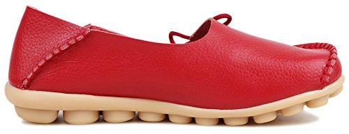 Kunsto Loafer Flats, Mocassini Donna Rouge