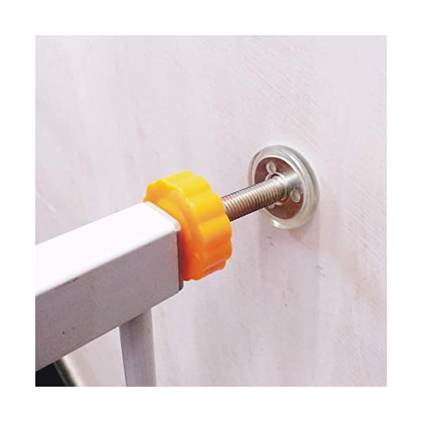 Child safety gate bar baby stair door pet dog fence indoor large dog stairs barrier fence AA-SS-Safety Door ♥Squeeze and lift handle for easy one handed adult opening ♥Quick-release fittings for removal when not required ♥Includes stop pins for mounting at the top of stairs 3
