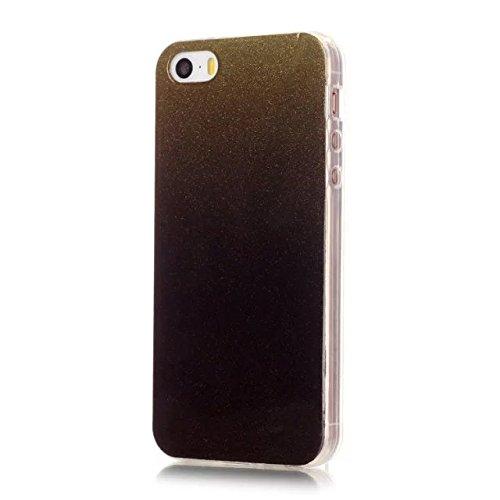 iPhone Case Cover Transparente Steigung-Farben-weiche TPU Schutzüberzug-Fall-weiche rückseitige Abdeckung für iPhone 5 5S ( Color : Red , Size : IPhone 5 5S ) Red