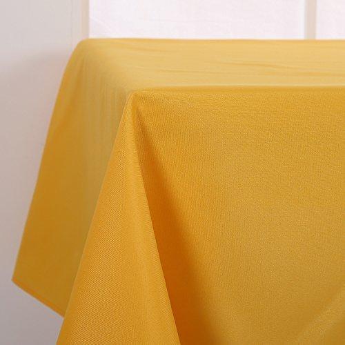Deconovo Tischdecke Wasserabweisend Tischwäsche Lotuseffekt Tischtuch 140x240 cm Gelb Stoff-tischdecken