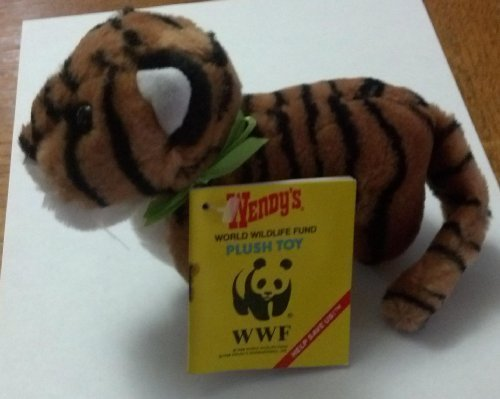 bengal-tiger-6-plush-wendys-1988-world-wildlife-fund-kids-meal-toy-by-wendys-kids-meal