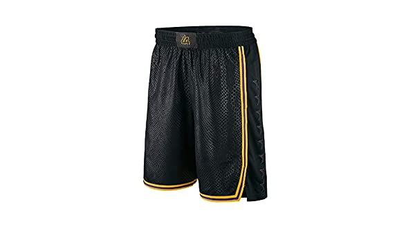 Kobe ball retro yellow purple urban version sports training loose shorts Davis Los Angeles Lakers James Basketball trousers