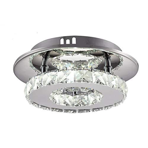 WETRR Flush Mount Ceiling Light Modern minimalistische Korridore Veranda Licht zu Hause Beleuchtung Metal Crystal Chandelier,neutrallight - Crystal Ceiling Mount