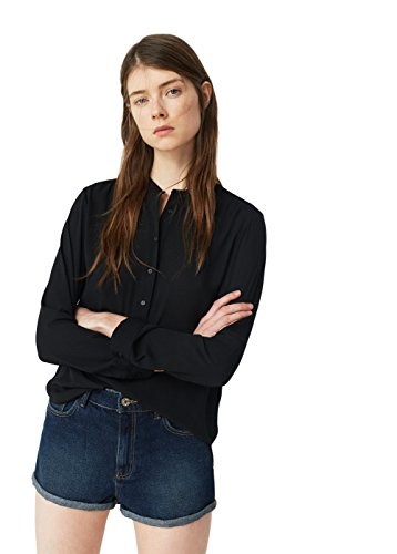 mango-flowy-shirts-blouse-size10-colorblack