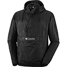 Columbia Men's Waterproof Windbreaker, CHALLENGER, Polyester, Black, Size: M, KM2005