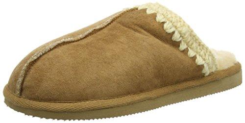 ShepherdCeline - Pantofole donna , Beige (Beige (Chestnut)), 36