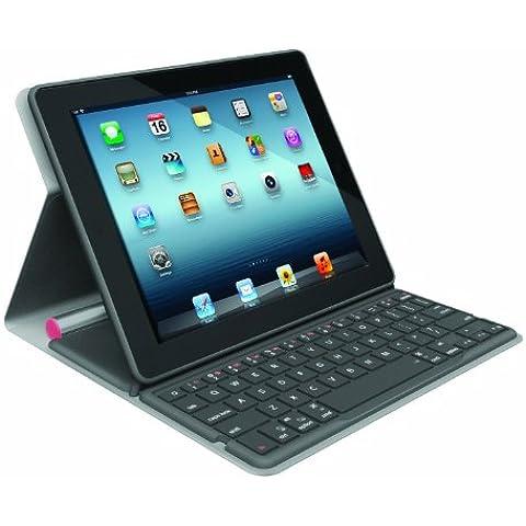 Logitech Folio Case - Funda con teclado para Apple iPad 2/3/4 (Bluetooth), rosa