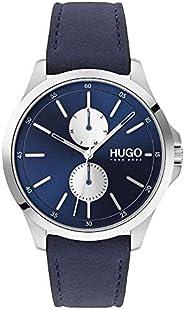 Hugo Boss Men's Blue Dial Blue Leather Watch - 153