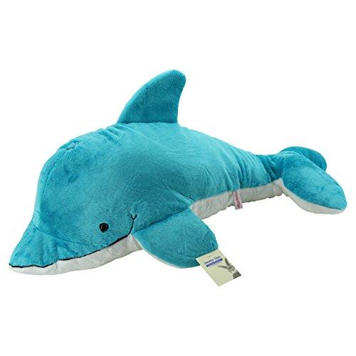 Sweety Toys 7851 XXL Riesen Delfin 75 cm türkis Plüschtier Stofftier kuschelweich super süss