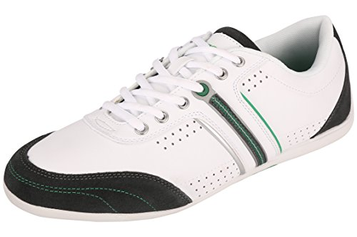 Fsports Mens White Green Synthetic Casual Shoes 8UK  available at amazon for Rs.748