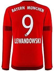 adidas FC Bayern Lewandowski Trikot Home 2016 langarm rot M
