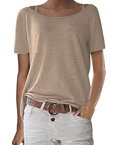 Zanzea T-Shirts Manches Longues Femme Pull en Tricot Casual Lâche Haut Sweat T Shirt Pas Cher Autom