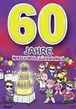 Archie Geburtstagskarte zum 60. Geburtstag Junge Mädchen lila Glückwunschkarte Kinder