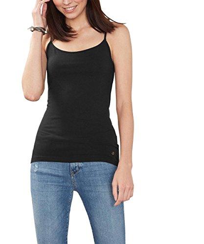 ESPRIT Damen Top 996EE1K907, Schwarz (Black 001), 36 (Herstellergröße: S) (- Spitze-top Schwarz-breite)