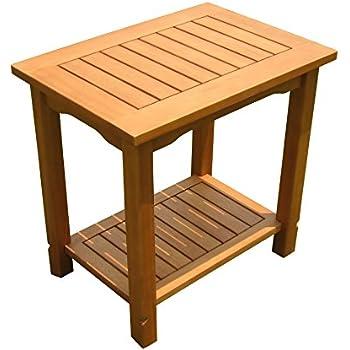 divero beistelltisch blumenhocker balkontisch teak holz tisch f r terrasse balkon garten. Black Bedroom Furniture Sets. Home Design Ideas
