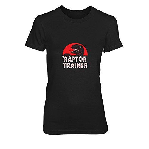 Raptor Trainer - Damen T-Shirt, Größe: M, Farbe: schwarz (Velociraptor Dinosaurier Kostüm)
