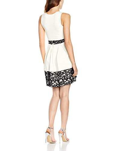 Quiz Damen Kleid Lace Skater Elfenbein - Off-White (Cream)