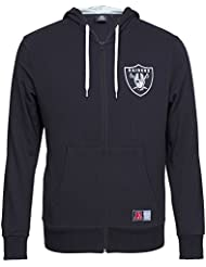 Majestic Oakland Raiders NFL leptic Full Zip à capuche Sweat-shirt Noir