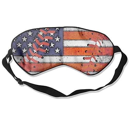 Adult Children Unisex USA Flag Baseball Stitches Eyeshade Sleep Mask Eye Mask