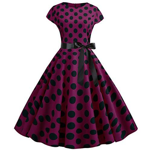 style_dress Robe Vintage à Manches Courtes RéTro pour Femme, AnnéEs 1950, Robe De Soiree, Robe De Soiree Courte Femme, Robe Femme Hiver