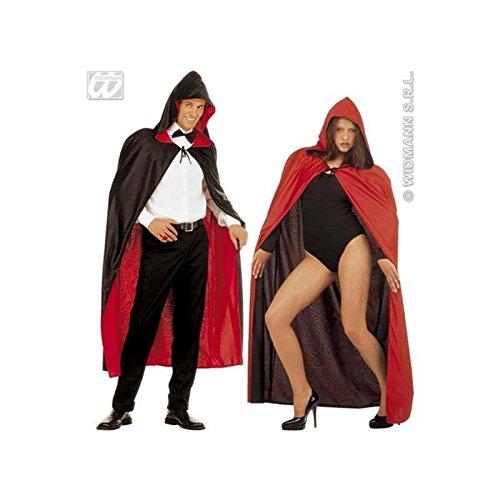 Lively Moments Wendecape Wendeumhang mit Kapuze in schwarz und rot Kostümzubehör Hexer / Magier / oder Halloweenkostüm