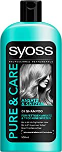 Syoss Pure & Care Ansatz & Spitzen Shampoo, 6er Pack (6 x 500 ml)