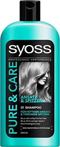 Syoss Pure & Care Ansatz & Spitzen Shampoo, 6er Pack (6 x 500 ml)