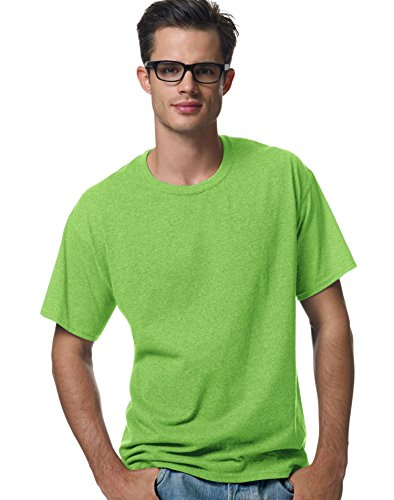 hanes-comfortblendr-ecosmart-da-uomo-girocollo-t-shirt-lime-s