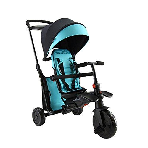 Baby stroller- Kinder Dreirad Baby Pedal Fahrrad Baby Hand Fahrrad gleiten Baby (Farbe : Blue) - Double City Jogger Mini
