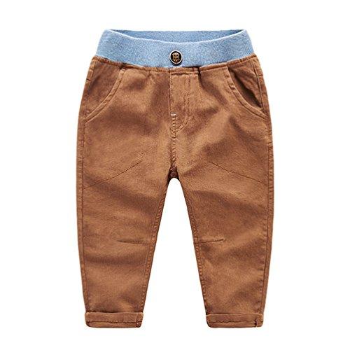 Yiiquan Hose Jungen Einfarbig Sweathose Jogginghose Freizeit Hosen Orange 110cm