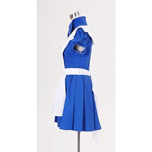 Cosplayitem Femmes Filles Robe Lolita Déguisements Servante Manches courtes Cosplay costumes Blanc Bleu Blanc bleu
