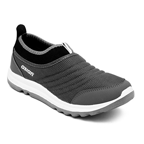ASIAN Prime-02 Grey Running Shoes,Sports Shoes,Gym Shoes,Casual Shoes,Training Shoes,Walking Shoes for Men UK-7