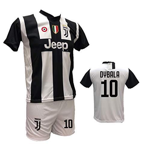 Completo maglia juventus bianconera paulo dybala 10 joya + pantaloncino bianco personalizzabile con numero 10 replica autorizzata 2018-2019 taglie da bambino e adulto (12 anni)
