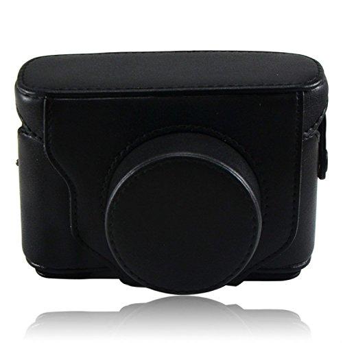 First2savvv XJPT-X10-01 schwarz Ganzkörper- präzise Passform PU-Leder Kameratasche Fall Tasche Cover für Fuji Fujifilm FinePix X10 X20 -