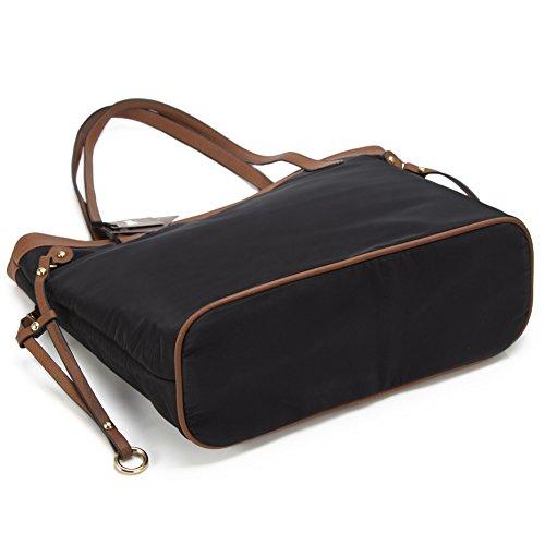 Zicac Damen Handbag Oxford Tasche Handtaschen Alltag Schultertasche Schwarz