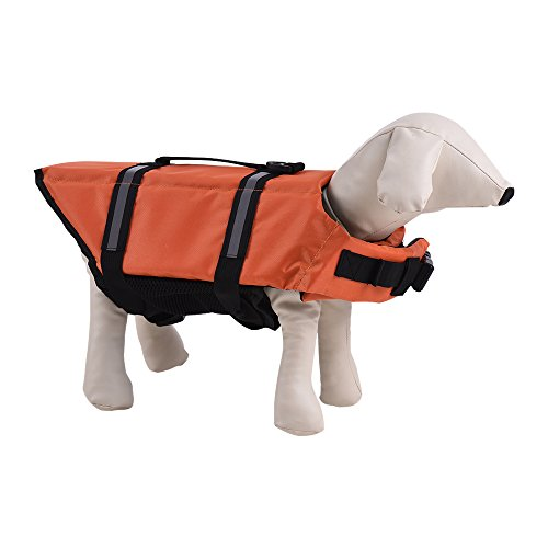 Decdeal Hund Rettungsweste Hundeschwimmweste Schwimmhilfe für Hunde mit Reflektierenden Streifen (Dog Life Jacket Extra Klein)