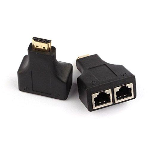Susenstone 1 par de HDMI al puerto Dual RJ45 red Cable extensor por Cat 5e / 6 1080 p