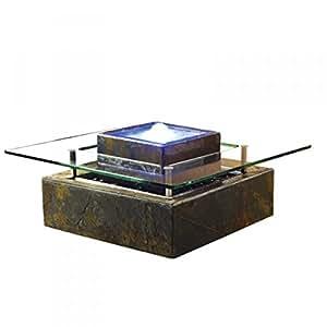 Décos Du Monde - Fontaine table basse multicolore