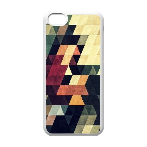 Stripe Retro Abstract Mosaic iPhone 5C Case, Sabcase Stripe Retro Abstract Mosaic Personalized Hard Back Cover for iPhone 5C