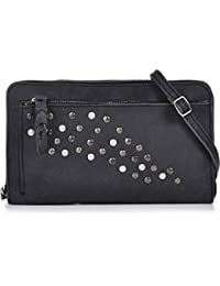 COWBOYSBAG, cuir, femmess, pochettes, sacs à main, sacs en cuir, aspect vintage, sac à main, sac bandoulière, cuir, noir, 27 x 16 x 5 cm (H x L x P)