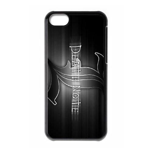 Death Note coque iPhone 5C Housse téléphone Noir de couverture de cas coque EBDXJKNBO11652