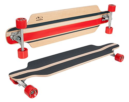 HUDORA Longboard LA Jolla, blau - ABEC 7 - Skateboard - 12816