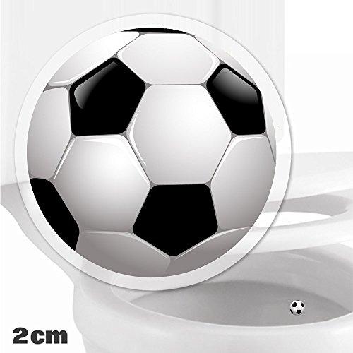 Cible d'entrainement de toilette pour les enfants, les bambins et les garçons Entrainement pour Salle de bain, Toilettes, Pot, Urinoir x 10 Cibles Football collantes (2cm)
