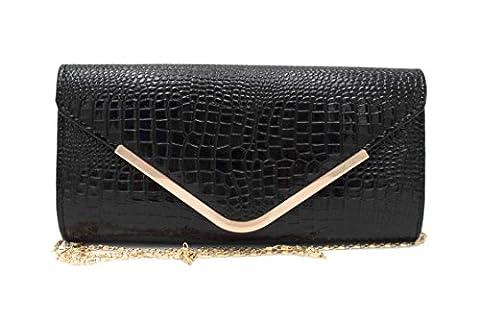 Hello Bag! , Damen Clutch schwarz schwarz