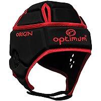 OPTIMUM Hedweb Classic Origin - Protector de Cabeza para Hombre Negro Negro/Rojo Talla:Mediano